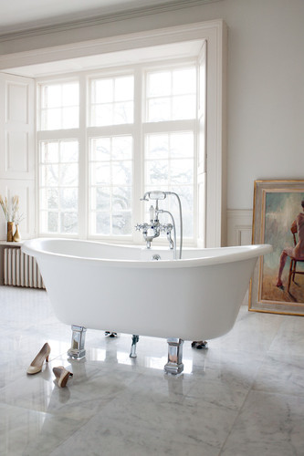 nostalgische retro badewanne chandler mit f en natural stone ebay. Black Bedroom Furniture Sets. Home Design Ideas