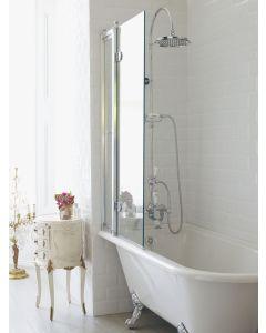 Duschabtrennung für die Badewanne mit Paneele