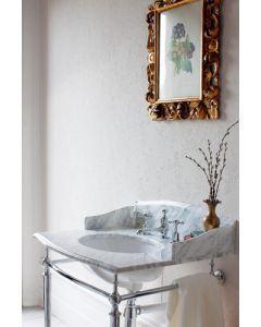 Carrara Marmor Waschtisch mit Chrom Untergestell