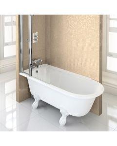 Freistehende Dusch-Badewanne Hampton 1700 links