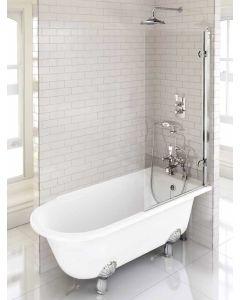 Freistehende Dusch-Badewanne Hampton 1500 rechts