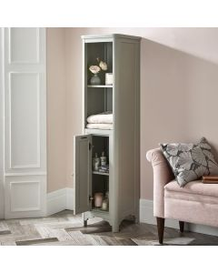 Laura Ashley Langham Vitrinenschrank, Tall Boy Steel Grey