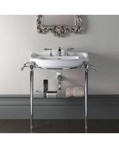 Metallunterbau mit Glasablage für Waschbecken Drift 66 cm