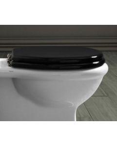 Nostalgie WC Sitz für WC Heritage, schwarz