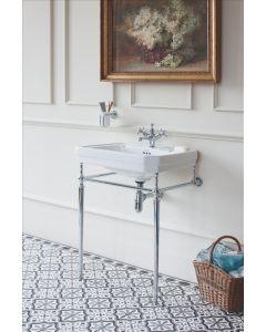 Waschbecken Victorian 61 cm mit Metallunterbau Chrom